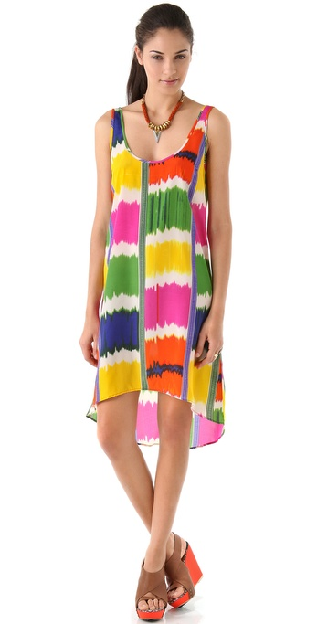 PJK Patterson J. Kincaid Case Ikat Tank Dress