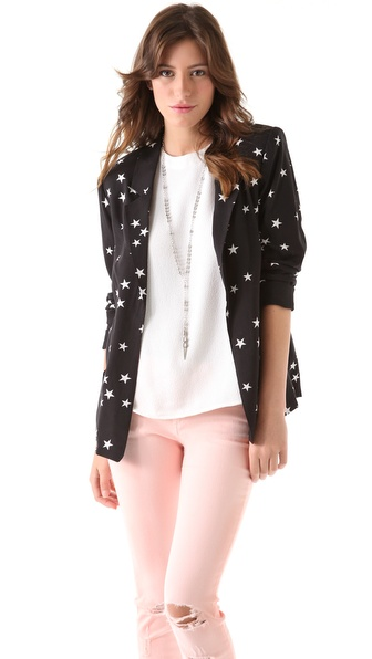 PJK Patterson J. Kincaid Ricci Star Print Blazer