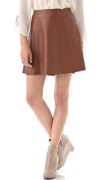 PJK Patterson J. Kincaid Polly Flirty Leather Skirt