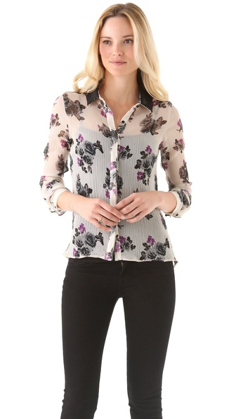 PJK Patterson J. Kincaid Jansen Floral Blouse