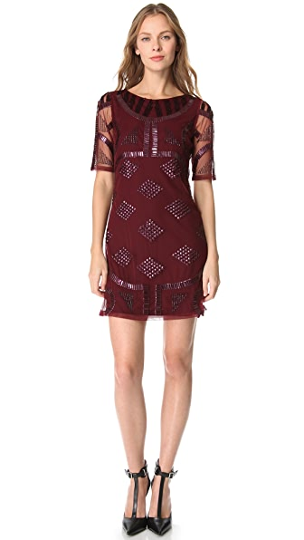 PJK Patterson J. Kincaid Griffin Beaded Dress