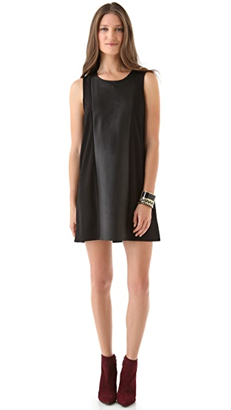 PJK Patterson J. Kincaid Clara Leather Shift Dress