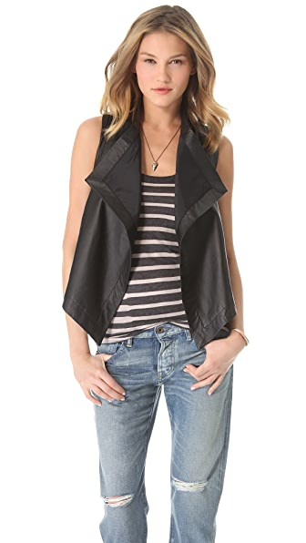 PJK Patterson J. Kincaid Ricky Leather Vest