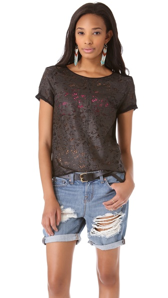 PJK Patterson J. Kincaid Raen Leather Tee