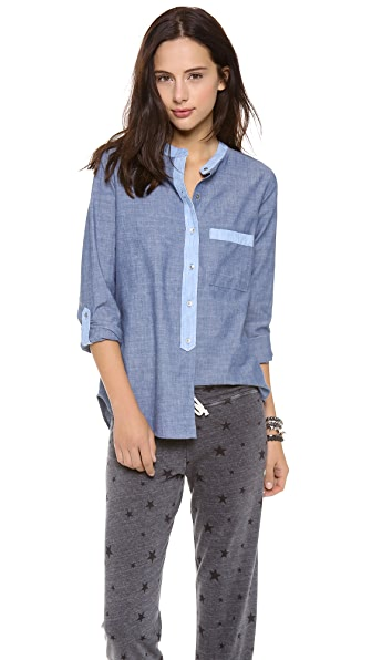PJK Patterson J. Kincaid Darnell Pocket Blouse