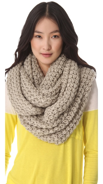 Paula Bianco Chunky Knit Wrap Scarf