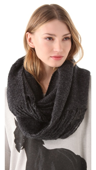 Paula Bianco Distressed Wrap Scarf