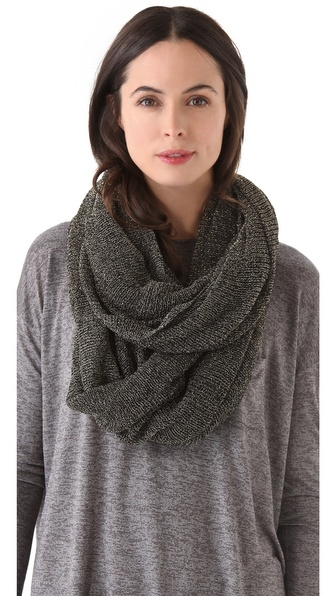 Paula Bianco Metallic Wrap Scarf