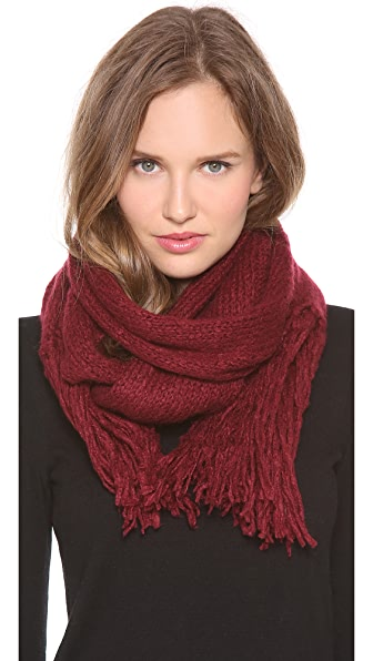Paula Bianco Long Pull Through Tassel Scarf
