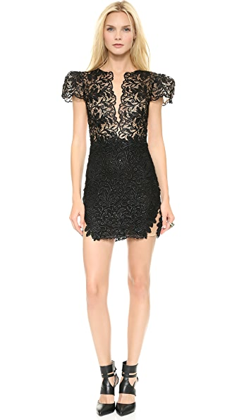 Patricia Bonaldi Lace Poof Sleeve Dress