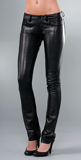 Paige Denim Black Label Hyde Park Skinny Leather Pant