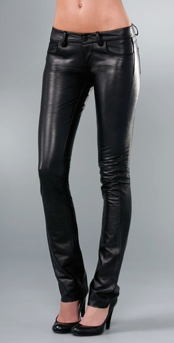 Paige Denim Black Label Hyde Park Skinny Leather Pant