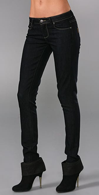 Paige Denim Contrast Verdugo Denim Leggings