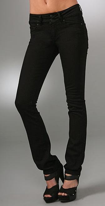 Paige Denim Vinyl Hidden Hills Skinny Jeans