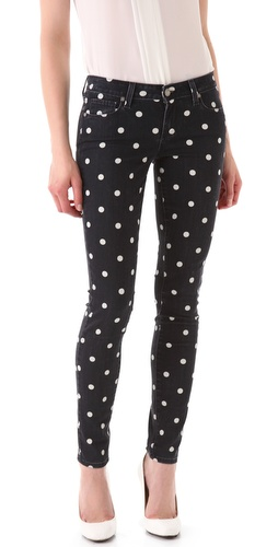 Paige Denim Polka Dot Verdugo Skinny Jeans | SHOPBOP