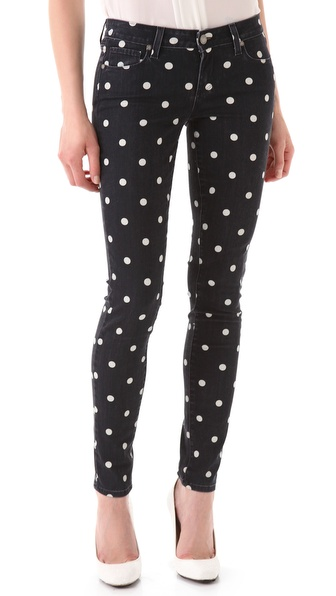 Paige Denim Polka Dot Verdugo Skinny Jeans