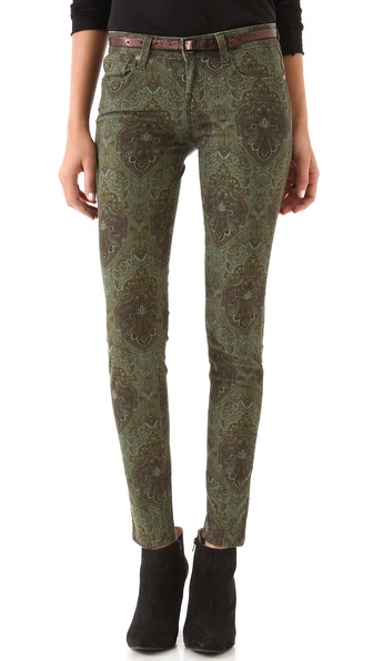 Paige Denim Paisley Verdugo Ultra Skinny Jeans