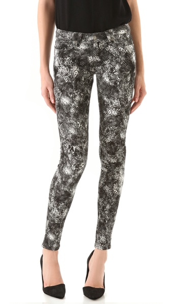 Paige Denim Feather Print Verdugo Ultra Skinny Jeans