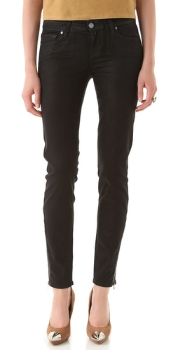 Shop Paige Denim Eve Zip Coated Skinny Jeans and Paige Denim online - Apparel,Womens,Bottoms,Jeans, online Store