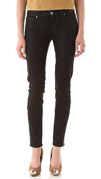 Paige Denim Eve Zip Coated Skinny Jeans