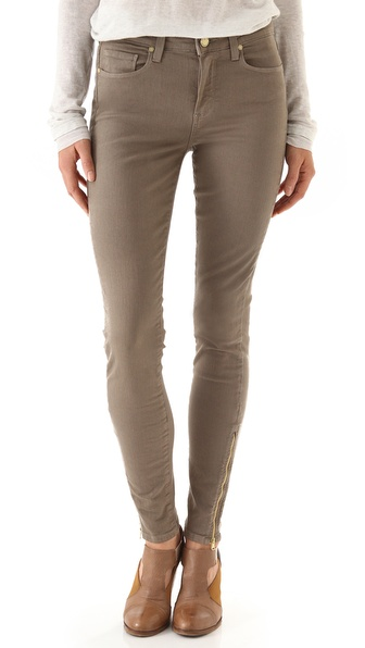 Paige Denim Hoxton Ultra Skinny Jeans with Zippers