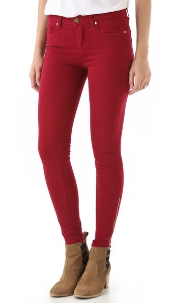 Paige Denim Hoxton Ultra Skinny Jeans with Zips