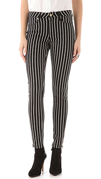 Paige Denim Hoxton Striped Skinny Jeans