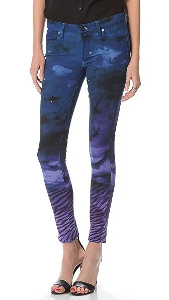 Paige Denim Print Verdugo Ultra Skinny Jeans