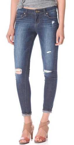 Paige Denim Verdugo Ultra Skinny Destructed Jeans