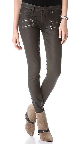 Paige Denim Edgemont Skinny Coated Jeans