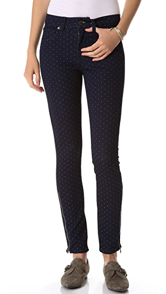 Paige Denim Hoxton Ankle Zip Skinny Jeans