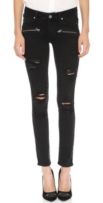 denim indio zip ultra skinny jeans