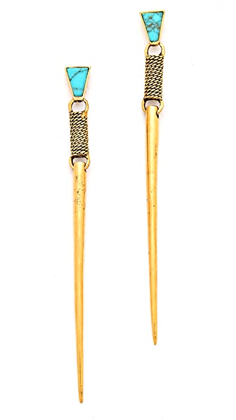 A Peace Treaty Dzil Long Spike Drop Earrings