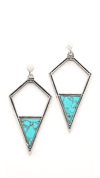 A Peace Treaty Leezh Open Arrowhead Earrings