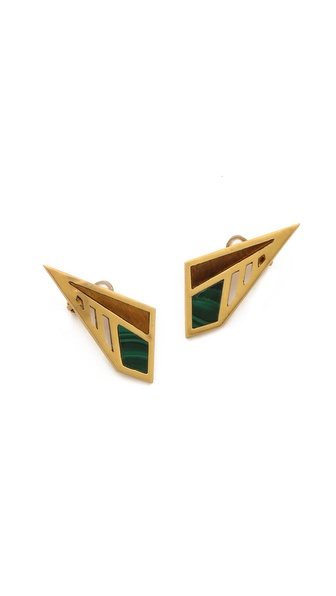 A Peace Treaty Kamama Malachite Earrings