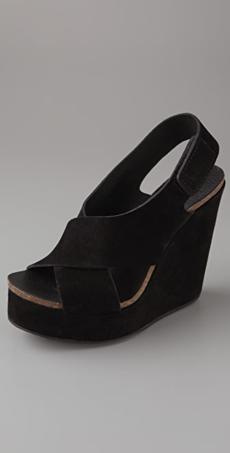 Pedro Garcia Tamira Suede Wedge Sandals