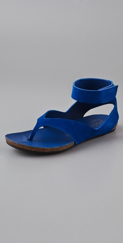 Pedro Garcia Jana Suede Flat Sandals