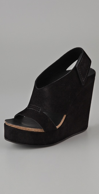 Pedro Garcia Open Toe Wedge Sandals