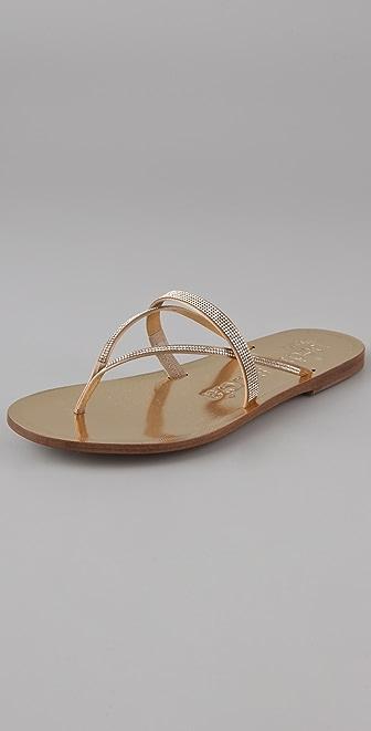 Pedro Garcia Zuriel Swarovski Crystal Thong Sandals