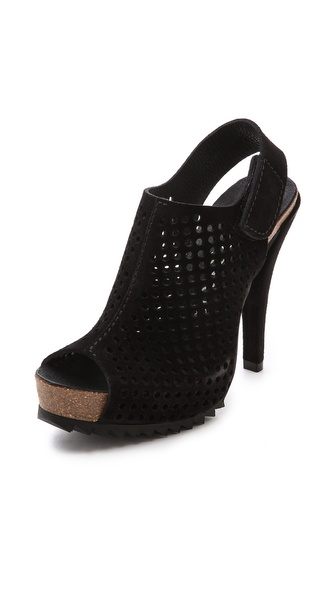 Pedro Garcia Candela Platform Sandals - Black at Shopbop / East Dane