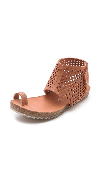 Pedro Garcia Venus Perforated Toe Ring Sandals - Adobe