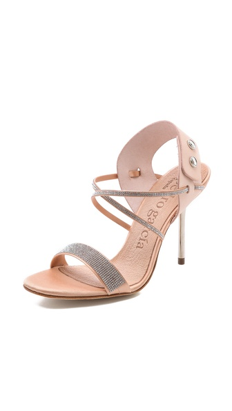 Pedro Garcia Monique Crystal Sandals - Nude