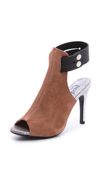 Pedro Garcia Samanta Booties - Black/Adobe