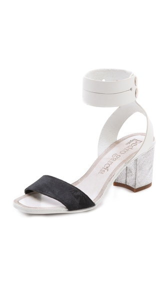 Pedro Garcia Xola Ankle Strap Sandals - White/Coal