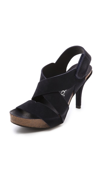 Pedro Garcia Laila Platform Sandals - Navy at Shopbop / East Dane