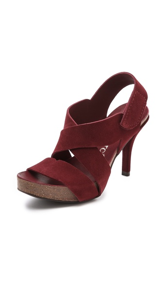 Pedro Garcia Laila Platform Sandals - Sangria at Shopbop / East Dane