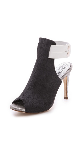 Pedro Garcia Samanta Open Toe Booties - Coal/White