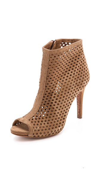 Pedro Garcia Sylvana Perforated Booties - Tan