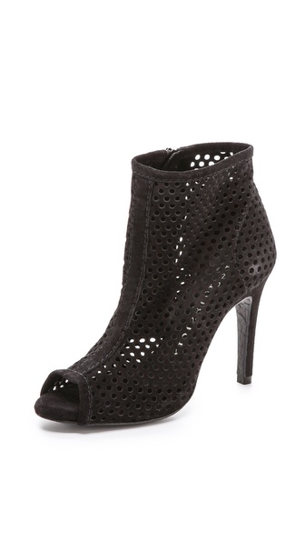 Pedro Garcia Sylvana Perforated Booties - Black