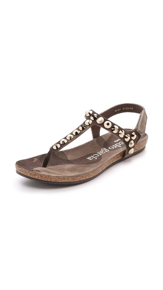 Pedro Garcia Judith Studded Sandals - Olive Camo